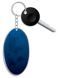 World map keyholder with key Royalty Free Stock Image