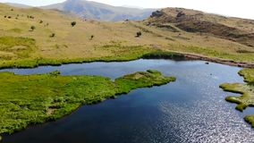 World map lake, Armenia stock footage