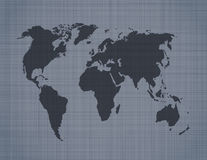World map on linen background Stock Photography