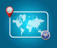 World map location destination illustration design Stock Photography