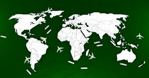 World map logistic Stock Photography
