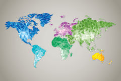 World map Low poly Stock Photography