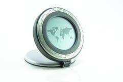 World map machine isolated on white left Stock Photography
