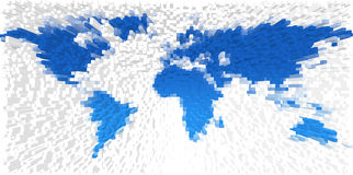 World map made from blocks Stock Image