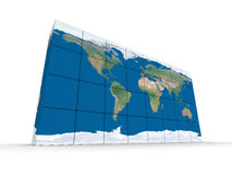 World map made of blocks Stock Photos