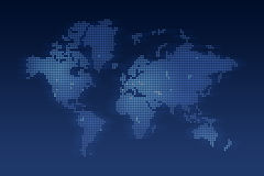 World Map made of dots. Computer generated World map made of small dots Royalty Free Stock Photo