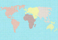 World map made of dots Royalty Free Stock Images
