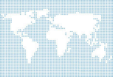 World map made of dots Stock Photos