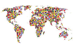 World map made of flags Royalty Free Stock Photos