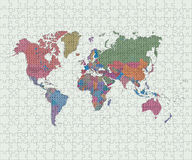 World map made of jigsaw pieces Royalty Free Stock Photos