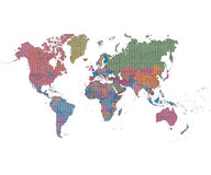 World map made of jigsaw pieces Royalty Free Stock Image