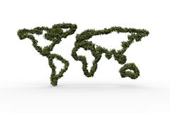 World map made of leaves Stock Photos