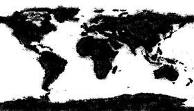 World map made of mud Stock Photo