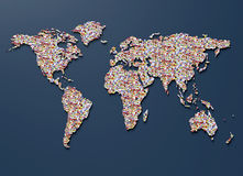 The world map made out of country flags Royalty Free Stock Photography