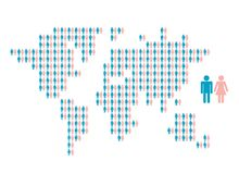World map made from people icons for your design Stock Photography