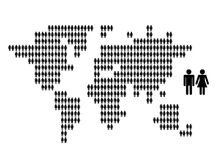 World map made from people icons for your design Royalty Free Stock Photos