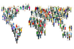 World map made of people Stock Image