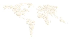 World map made of round shapes Royalty Free Stock Photos