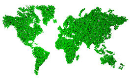 World Map, map, stylized, green pentagons Stock Photos