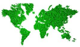 World Map, map, stylized, green pentagons Stock Photos