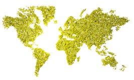 World Map, map, stylized, yellow triangles Stock Image