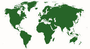 World map - map of the world. Green map of the world isolated