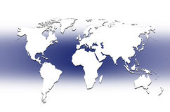 World map - map of the world Stock Photography