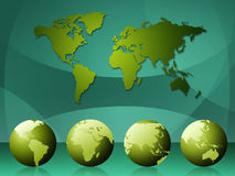 World Map Means Cartography Globalization And Continents Stock Image