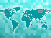 World Map Means Countries Global And Globalization Royalty Free Stock Photos