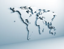 World map on metal Stock Photography