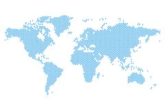 World map mosaic of blue rain drops. Vector illustration vector illustration