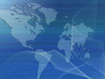 World map with net Royalty Free Stock Photos