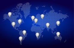 World map network background illustration. Design Stock Photography