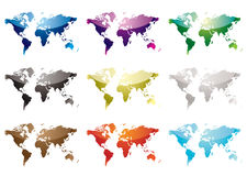 World map nine Royalty Free Stock Images