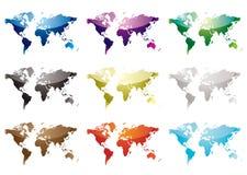 World map nine Royalty Free Stock Images