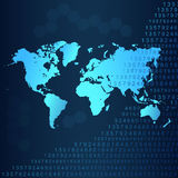World map with numbers background. Royalty Free Stock Images