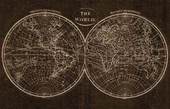 The world map. The old world map antique map vector illustration