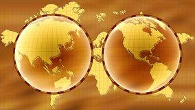 World map stock video footage
