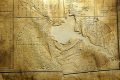 World map on old paper Royalty Free Stock Image
