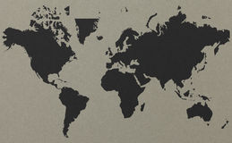 World map with old paper background Royalty Free Stock Photos