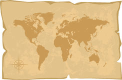 World map old style.  Royalty Free Stock Photos