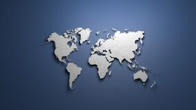 Free World Map On Blue Background Banner Royalty Free Stock Photography - 213737747