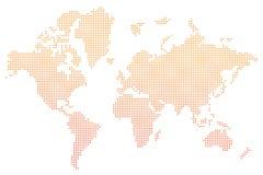 World map orange dots  Stock Image