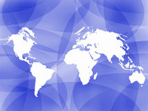 World map outline background Royalty Free Stock Images