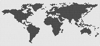 World map outline Stock Photo