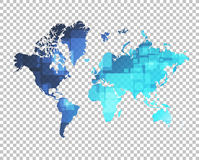 World map over a blank design layer Royalty Free Stock Photo