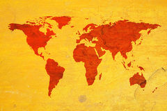 World map over textured background Stock Photography