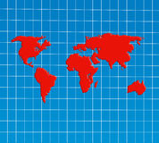 World Map Overview Royalty Free Stock Images