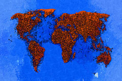 World map paint design art Royalty Free Stock Image