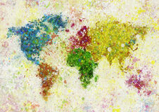 World Map Painting Royalty Free Stock Photos